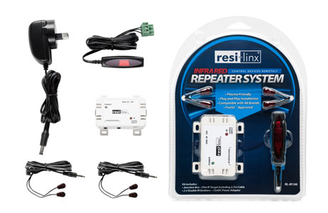 Resi-Linx Hard Wired Infra-Red Repeater Kit (RL-IR100)