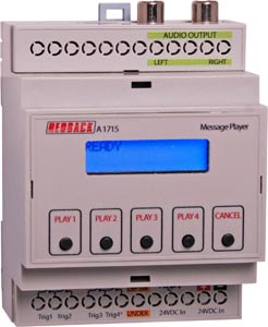 DIN Rail MP3/SD Message Player