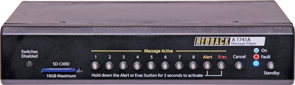 8 Way MP3 Message Player With Alert/Evac