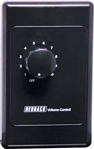 10W Overridable PA Attenuator - Vert. Black Dual Cover