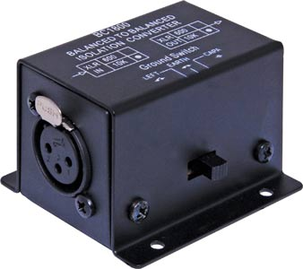 Line Isolation Transformer 10kΩ to 10kΩ XLR
