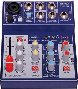 4 Channel Mixer With USB Output & Effects