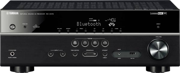 Yamaha RX-V579B 7.2Ch Network AV Receiver with Bluetooth, AirPla