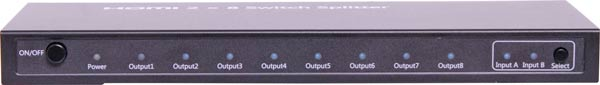 2 Input to 8 Output 4k 2k HDMI Distribution Amplifier