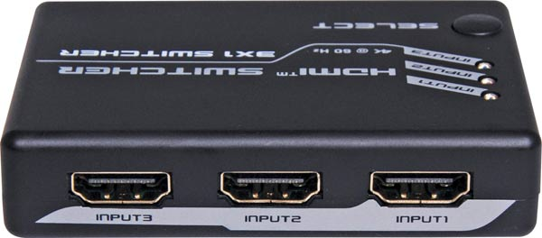 3 Way 4k HDMI Switcher