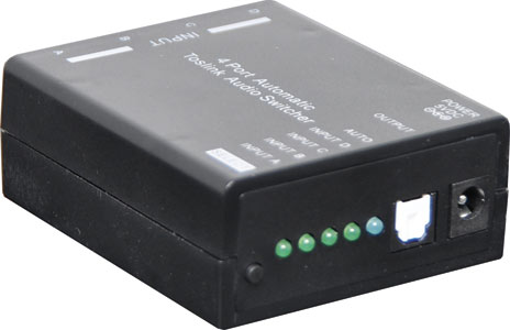 4 Way Auto Toslink S/PDIF Switcher