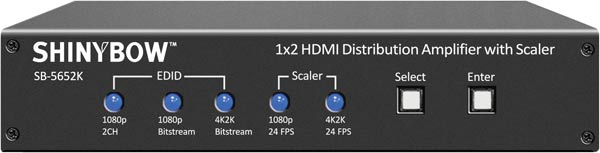 1 In To 2 Out HDMI 4K/2K Distribution Amplifier Scaler