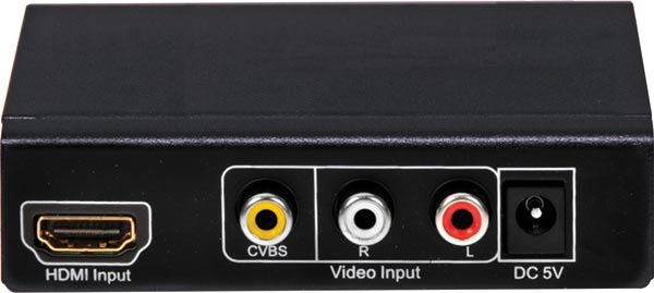 S-Video Composite AV To HDMI Converter