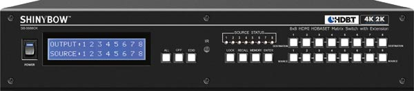8x8 HDMI HD BaseT Balun Matrix Switcher