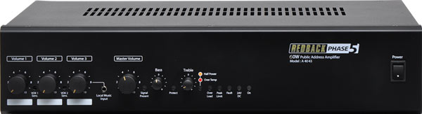 Phase5 60 Watt 100V Public Address Amplifier