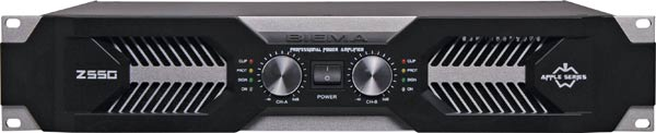 PA Amplifier Stereo/Bridgeable 2x550W