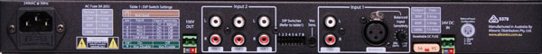 Compact 1RU Public Address Mixer Amplifier 60W