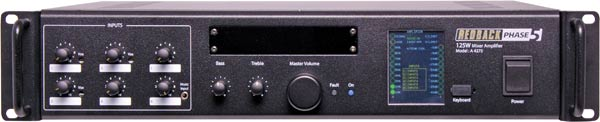 Phase5 Public Address Mixer Amplifier 125W 6 Input