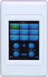 Touchscreen Remote Program Select Wallplate To Suit A4480 Matrix