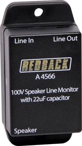 In-Line 22uF Speaker line Isolator Box
