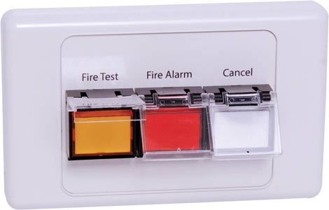 Fire Alarm Test RJ45 Wallplate to suit A 4595