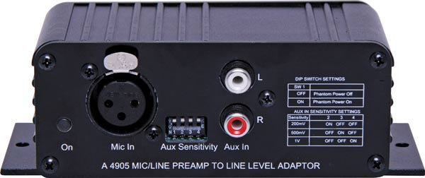 Mic/Line Pre-Amplifier to Line Level Out Converter