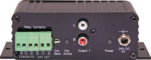 Mic/Line/100V Input to Line +24V Switched Output