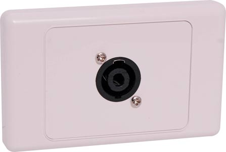 4 Pin Neutrik Speakon Horizontal Speaker Wallplate Dual Cover