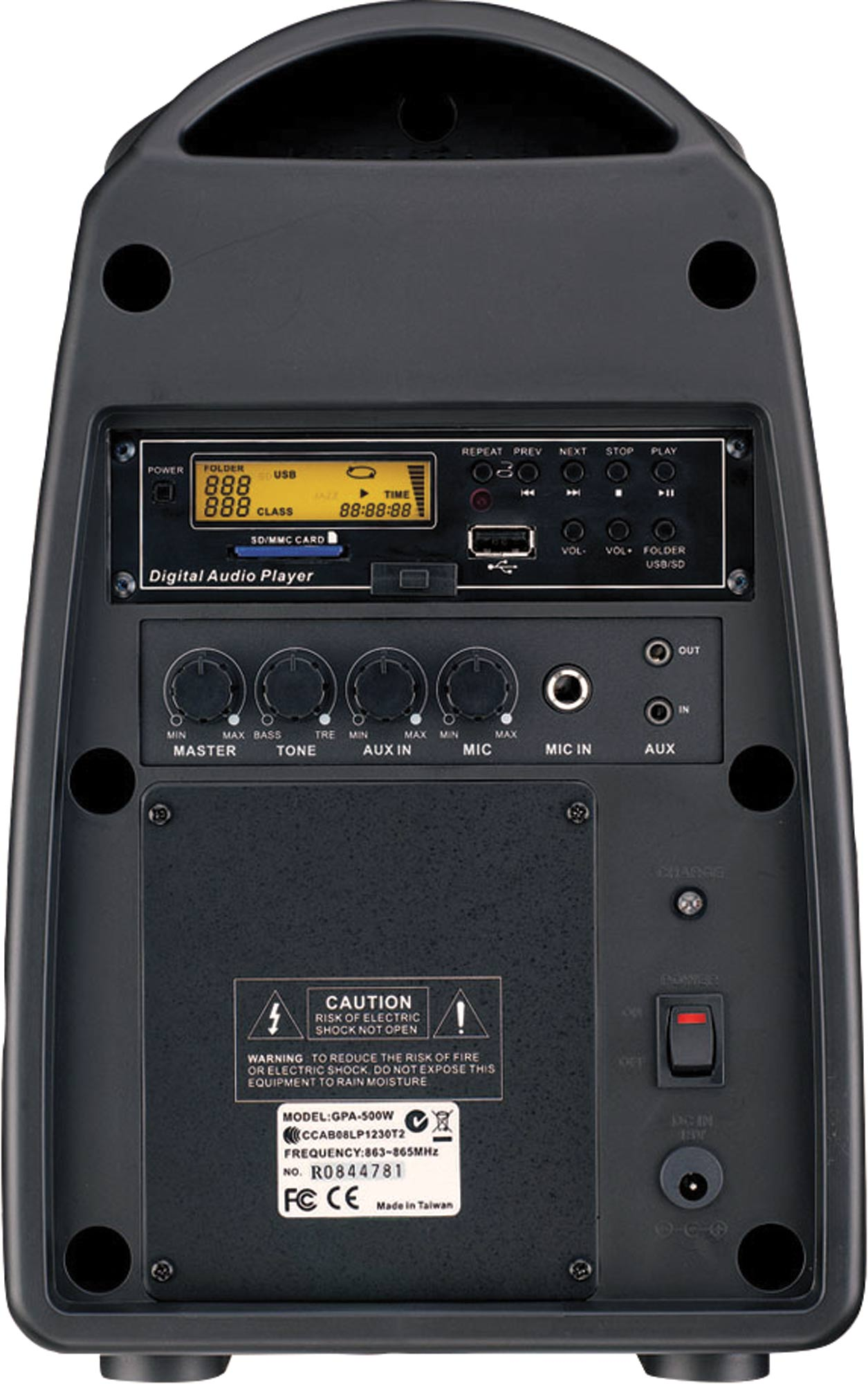 30W Compact Portable PA System With MP3 Player