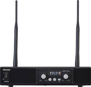 Dual Channel UHF Wireless Audio Link Receiver 520-544MHz
