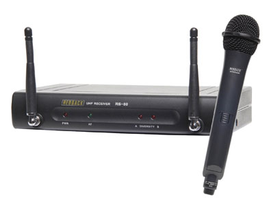 Redback UHF Wireless Microphone System With Handheld Mic 16 Ch