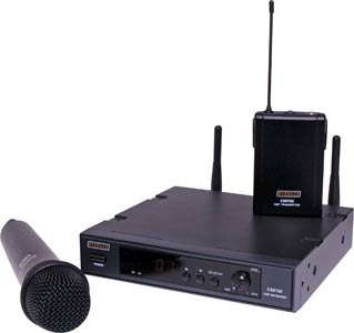 UHF Wireless (520-550MHz) Microphone System 16 Channel Receiver