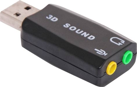 USB Sound Card Adaptor Dongle