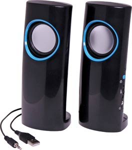 6W USB Stereo Desktop Computer Speakers