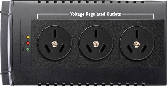 VoltGuard AVR 3 Outlet Surge Protected Power Conditioner