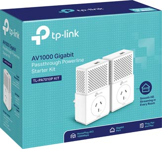 TL-PA7010P-KIT Ethernet Over Power Adaptor Pair 1000Mbps