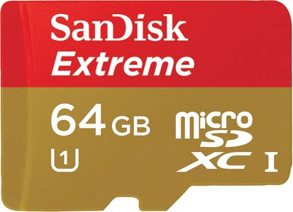Extreme Micro SDHC Card 64GB