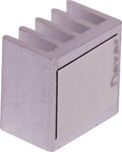 Mini PLCC Chip Adhesive Backed Heatsink - 13 x 14 x 9mm