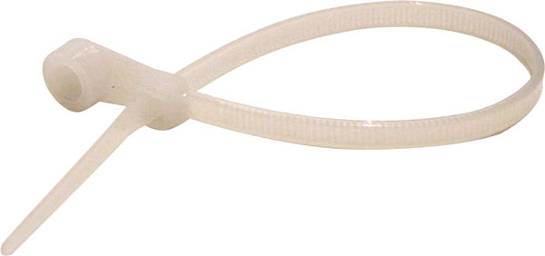 170mm Natural Fixing Hole Cable Ties Pk 25