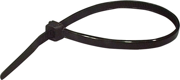 200mm Black UV Resistant Cable Ties Pk 25
