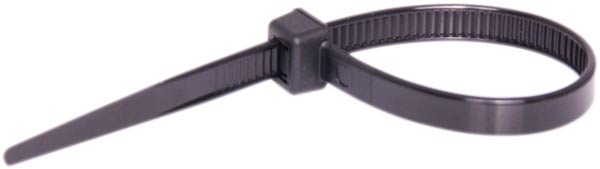 120mm x 4.8mm Black UV Resistant Cable Ties Pk 100