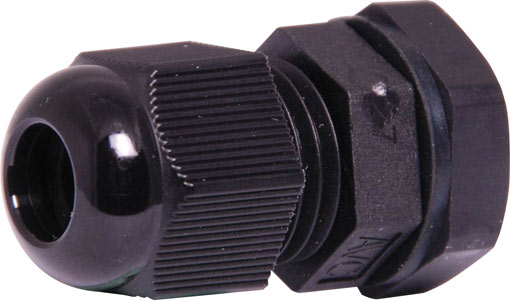 3-6.5mm EG7/PG7 Black IP68 Nylon Cable Gland