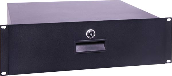 "2U 350mm Deep 19"" Lockable Rack Drawer"