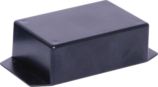 UB5 (82Lx54Wx30Hmm) Black ABS Flanged Jiffy Box