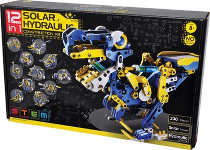 12-in-1 Solar Hydraulic Construction Kit