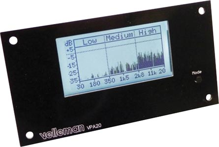 LCD Audio Analyser Meter Kit