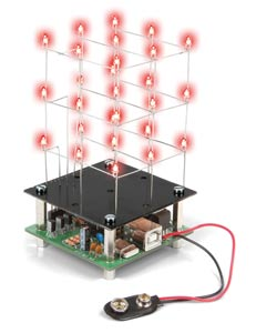 3 x 3 x 3 Red LED USB Cube Kit