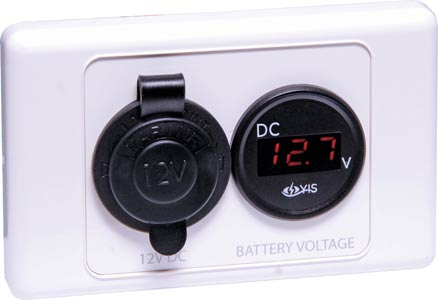 12V DC Accessory Socket Battery Meter Wallplate