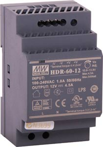 60W 12VDC 4.5A DIN Rail Switchmode Power Supply