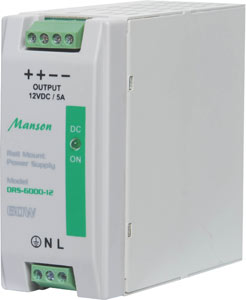 60W 12VDC 5A DIN Rail Switchmode Power Supply