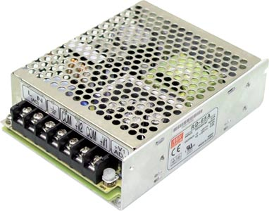 66W 5VDC / 12VDC Dual Rail Switchmode Power Supply