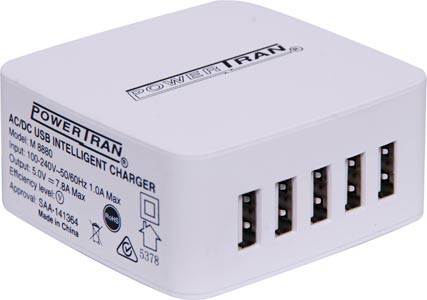 5 Output Intelligent 7.8A High Current USB Charger