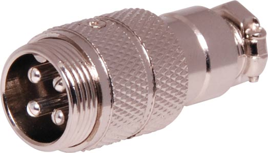 4 Pin Male Line Microphone Connector