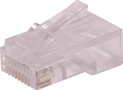 8P8C RJ45 Modular Plug Cat5e Through Hole (Suit Solid Cable)