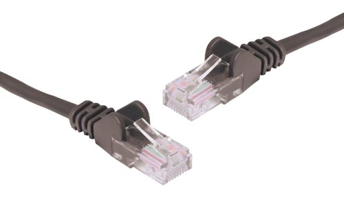 Black 5m Cat6 UTP Ethernet Patch Lead